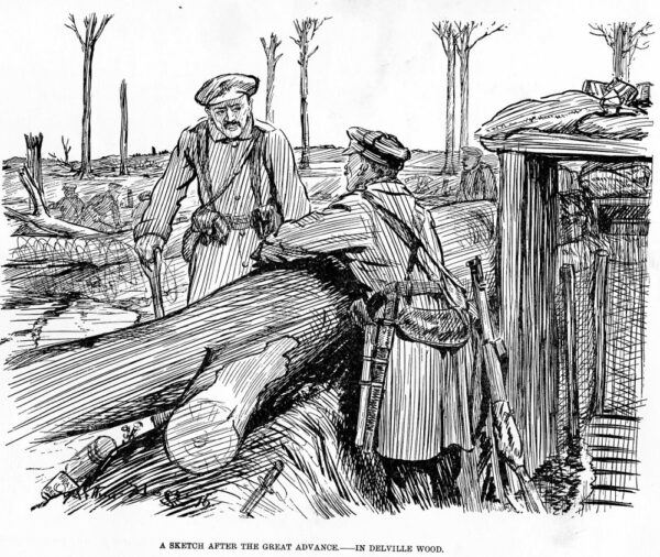 Soldiers in Delville Wood